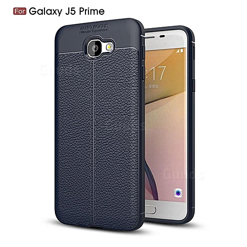 timeless design 2ef2e 03223 Auto focus TPU Silicon leather cover for Samsung J5 prime - Black