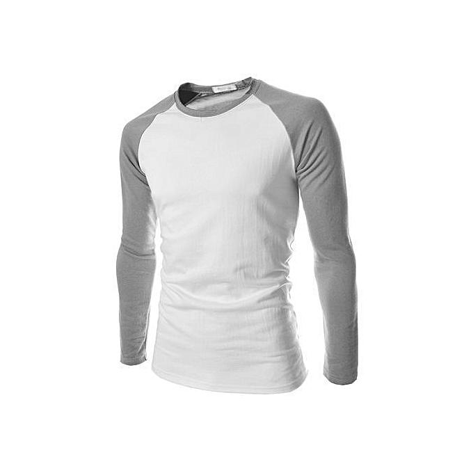 new style 301d1 16343 New Arrival HOT Mens Long Sleeve Shirt Baseball Raglan T-Shirt Sports  Jersey Tee M-XL-Grey White