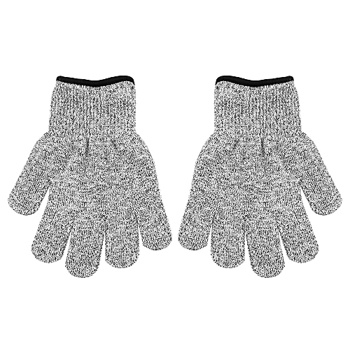 Cut-Resistant Gloves Protective Hand Finger Gloves Elastic Light Weight  Tools light gray S