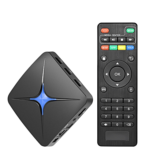 T96N+ Smart Android 7 1 TV Box 4GB/32GB RK3328 Quad-Core 4K Full HD 1080P  H 265 USB3 0 DLNA Miracast AirPlay 2 4G+5G Dual-band WiFi LAN Ethernet  BT4 1