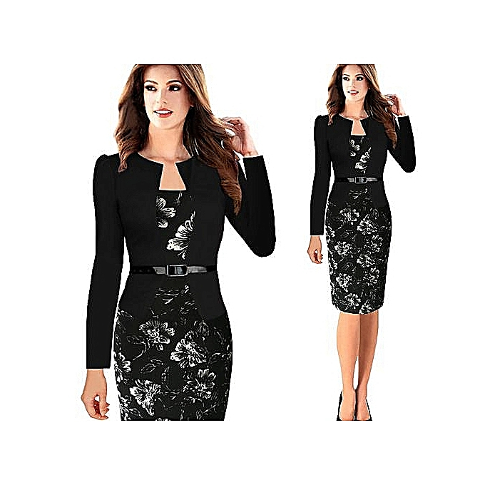 f9bb23c252cf5 Hot Sale Women Office Dress Plus Size Faux Jacket One-Piece Bodycon  Vestidos Patchwork Elegant Summer Wear To Work Dresses Business Dresses  Formal ...