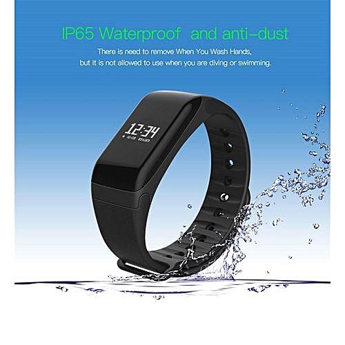 Sports Smartwatch R3 Heart Rate Fitness Tracker Intelligent Wristband Watch  Sleep Monitor Smart Watch - Black