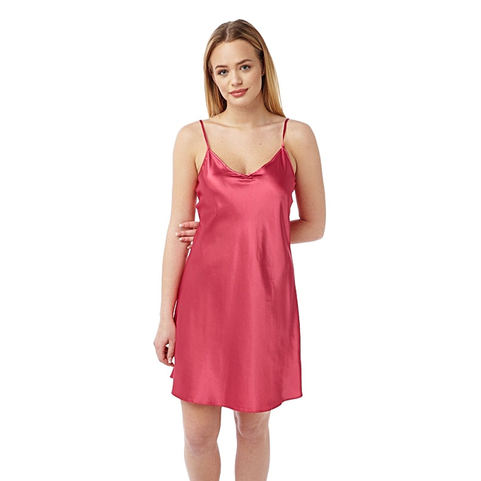 a7826e6df0a Buy Generic Ladies BHS Short Satin Night-Dress - Pink online | Jumia Uganda