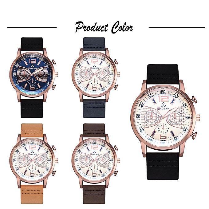 Business Wrist Watches Men Fashional PU Leather Strap Band Quartz Watch