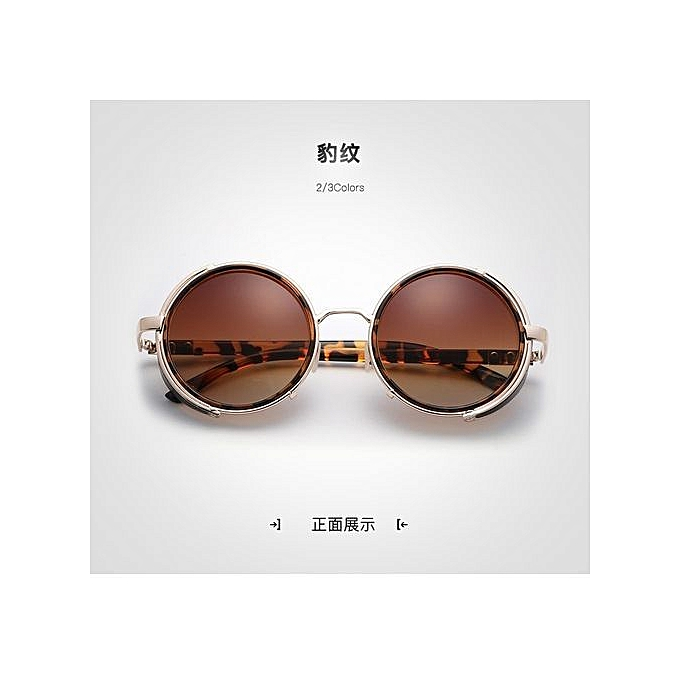 103630536 Retro Round Steampunk Unisex Sunglasseswomen/men Vintage Gothic Sunglasses  Goggle Oculos De Sol Feminino