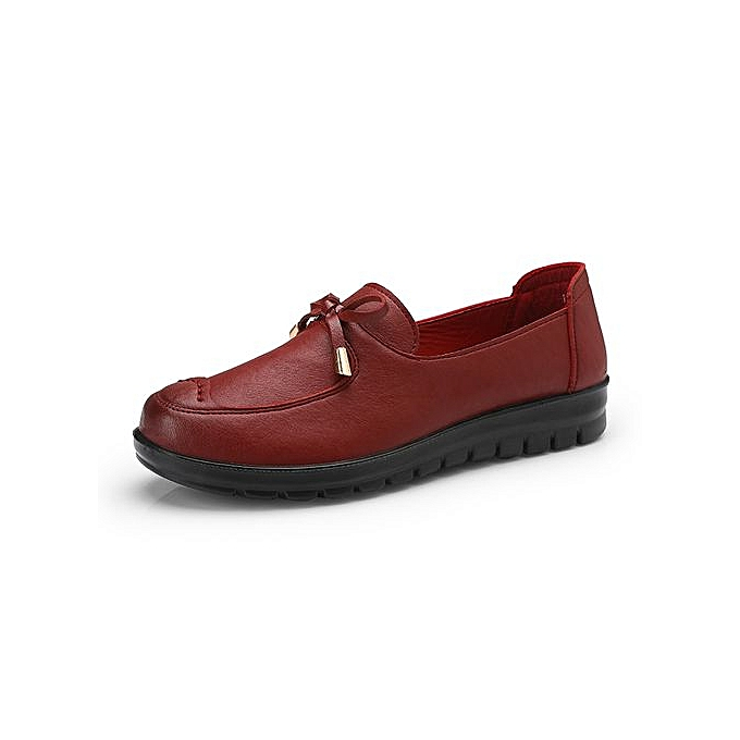 e4d0e3ded2bda Women's Casual Shoes Bow-knot Flat Loafers Moccasins (Red)