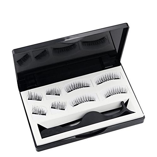 f47575cdebc Buy Generic Magnetic False Eyelashes Set with Applicator 3D Black Dual  Magnetic Fake Lashes for Eyelashes Extension Reusable online | Jumia Uganda