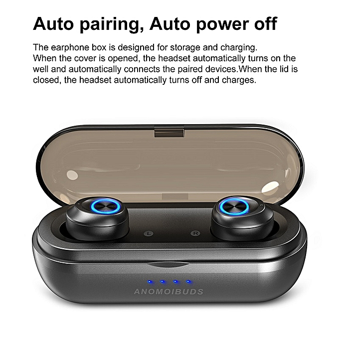 ANOMOIBUDS IP010-X TWS Earbuds Bluetooth 5 0 True Wireless Headphones  In-ear Stereo Earphones Sport Headset with Mic 1000mAh Charging Case for  iPhone