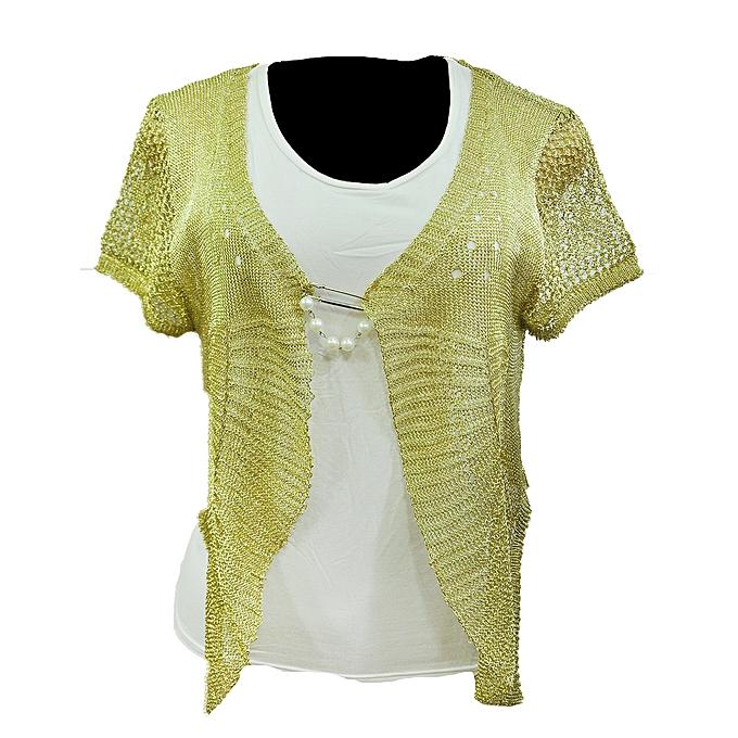 993726244 Ladies Women's Knitted Shrugs Bolero Short Sleeves Cardigans - Cream