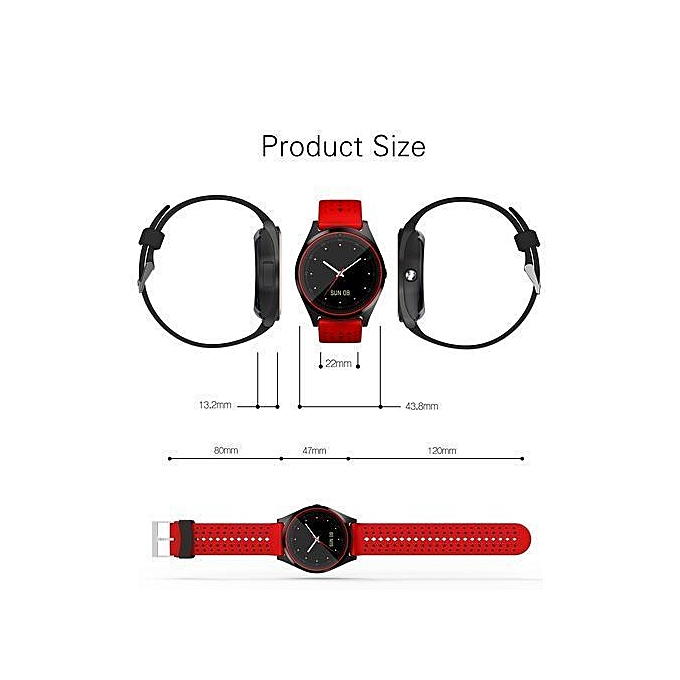 2019 Super Brilliant Multi-functional Touch Screen Smartwatch Plus Free  Stylish Phone Ring Holder - Red