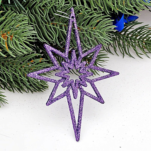 Christmas Tree Decorations Christmas Decorations Hollowed Out Anise Stars Purple