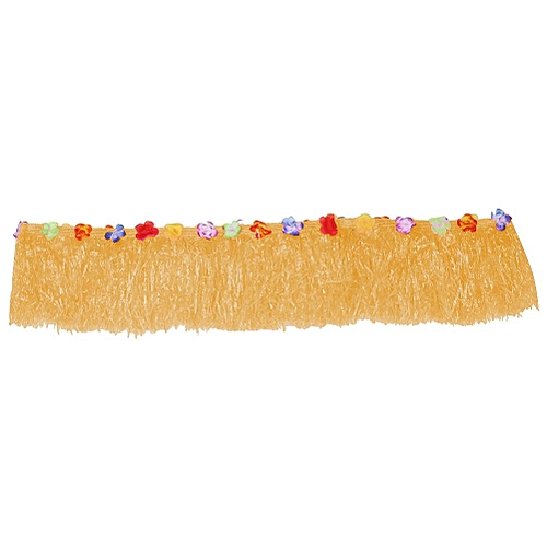 ac7b33e5d9b Colorful Flower Hawaiian Party Table Grass Skirt Cover Summer Beach Parties  Decor(Light Brown)