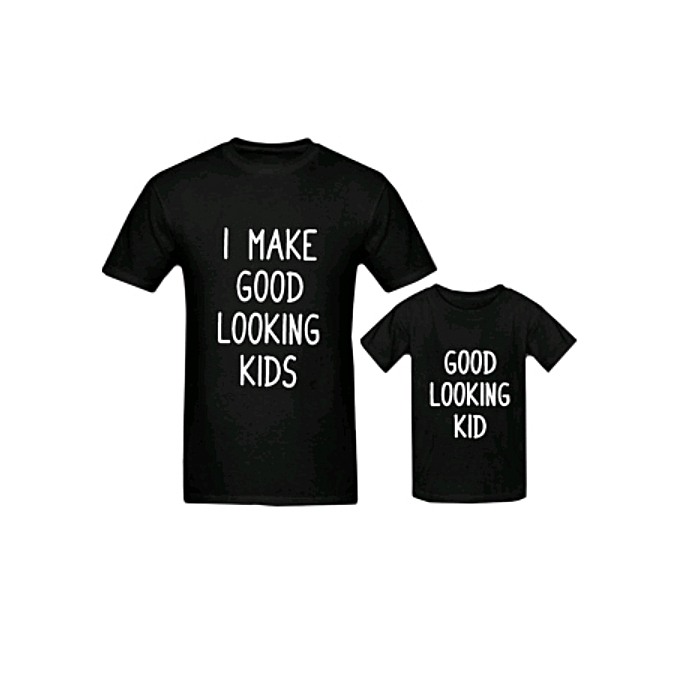 Gorgeous Father and Child T shirts - Black