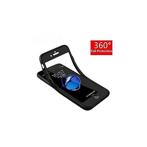 huge selection of ea62b 20cc4 360 case for iPhone 6, 6s Plus + tempered glass - Black