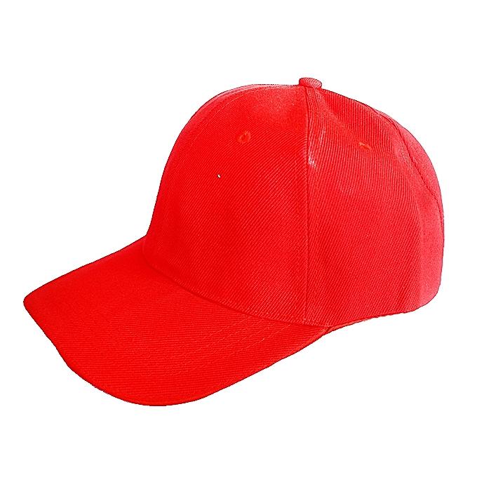 Plain Base Ball Men s Cap - Red  90ba856f319