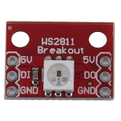 Light Weight Red WS2812 RGB 5050 LED Breakout module 1 7*1 2cm For arduino  Red