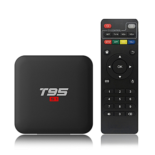 T95 S1 Android 7 1 TV Box Amlogic S905W Smart TV Set Top Box Remote Control  Quad Core H 265 2GB / 16GB 2 4G WiFi 100M LAN HD Media Player LED Display