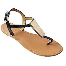 005d2365e26 T-Strap Sandals - Black