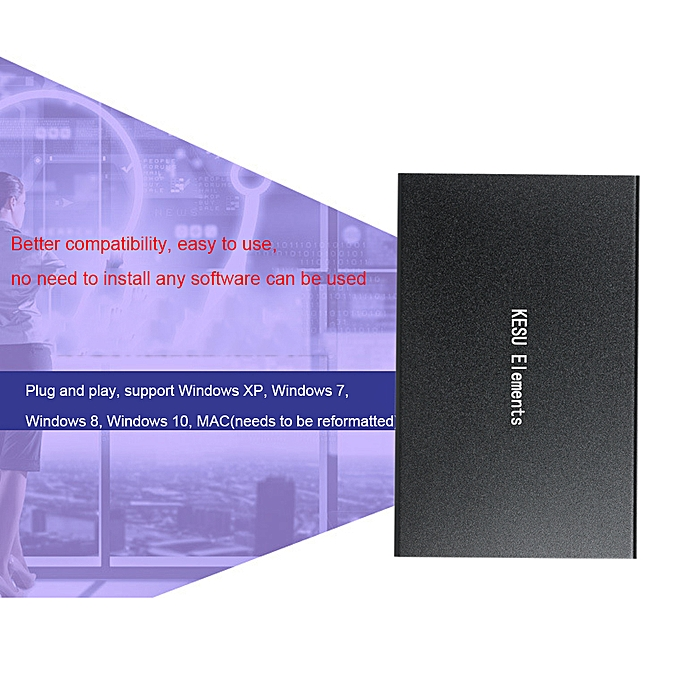 Portable External Hard Drive USB 3 0 120G 160G 250G 320G 500G HDD External  HD Hard Disk for PC Silvery&1T