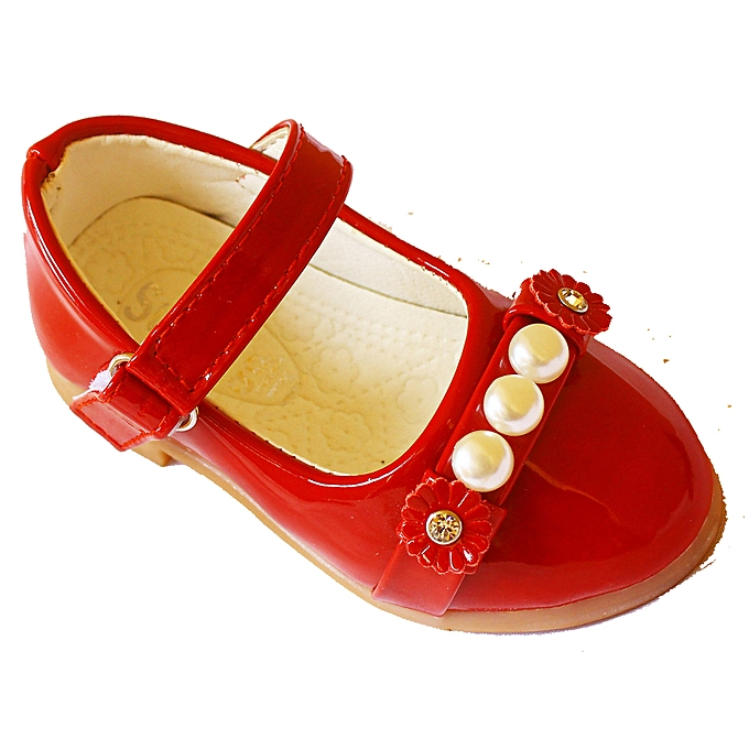 aaad8858347c Generic Girl s Pearl Detail Shoes - Red
