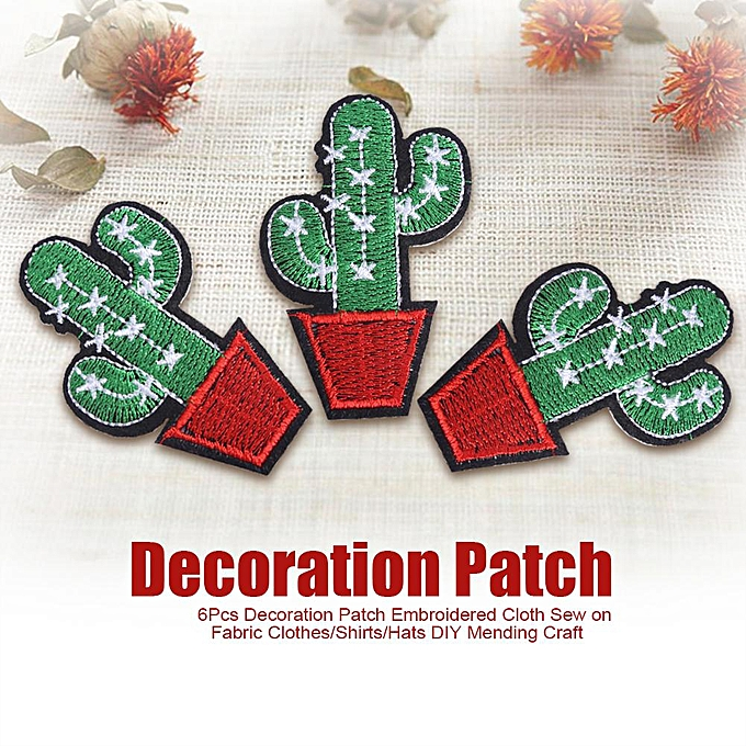 6Pcs Decor Patch Embroidered Cloth Sew On Fabric Shirts/Hats DIY Mending  Craft #Silver Star