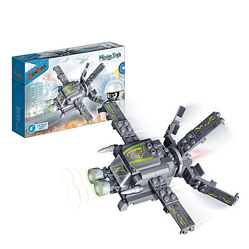 BanBao Blocks Toys Mosquito Scout Plane Educational Building Bricks Toys-