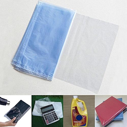 100Pcs PVC Heat Shrink Wrap Bag Film Clear Flat Storage Bag Soap Candles  Packaging 2030cm
