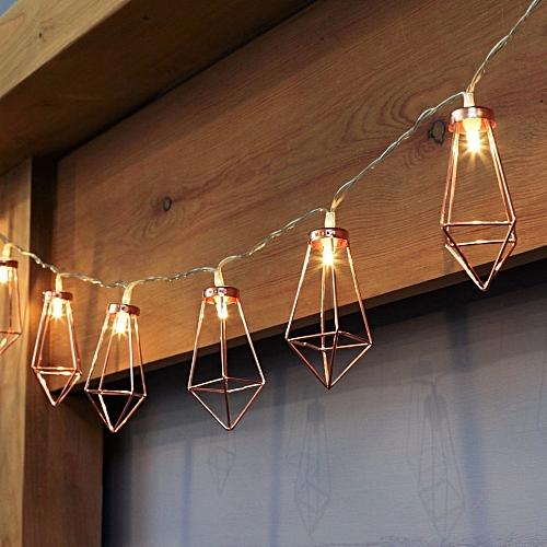 official photos 82af9 2216e KCASA 1M 10 LED Metal Diamond String Lights LED Fairy Lights for Festival  Christmas Halloween