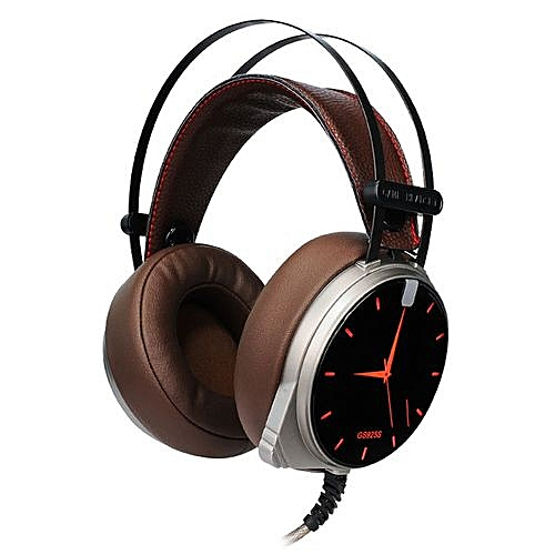 Latest GS925S 7 1 Sound Effect Gaming Headset Wired Headphone With  Microphone Auriculares Headband MP3 Player Fo Computer Gamer(Brown)