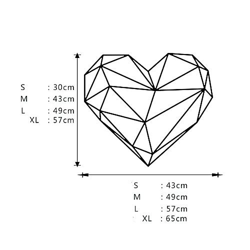 Generic Valentines Day Love Geometry Window Wall Sticker Mural Decor
