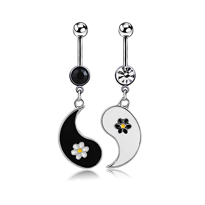 Fashion Flower Dangle Belly Button Rings Navel Piercing Body Jewelry