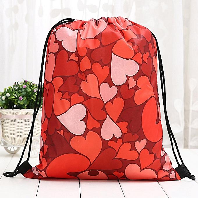 e23b05f977d6 Women Backpack Storage Bundle Rope Valentine's Day Bag Shopping Drawstring  Bag