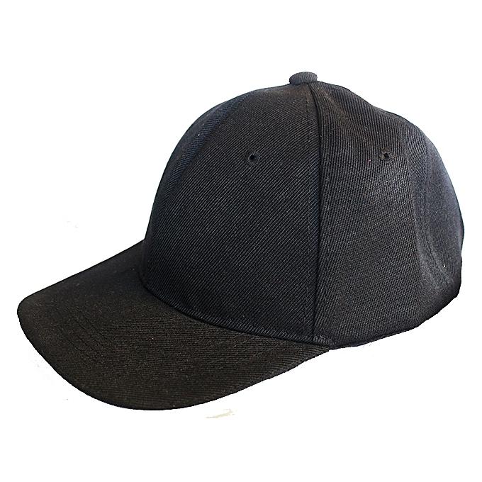e1182b54b7a Plain Base Ball Men s Cap - Black