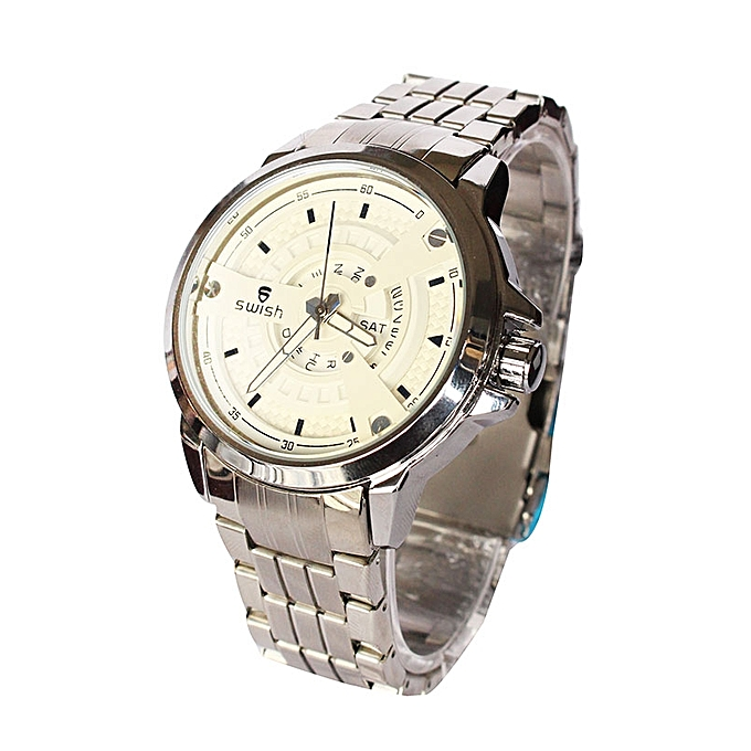 33d27219388 ... Stainless Steel Analog Wrist Watch - Silver