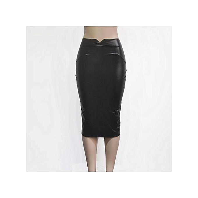 6497b4bd9 Buy Generic Stylish Comfortable Velvet PU Hip Packed Skirt online ...