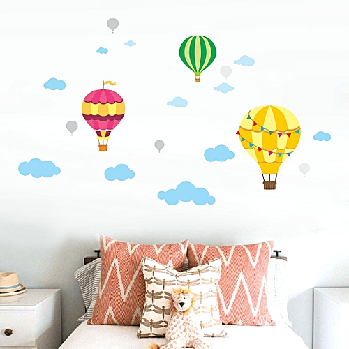 Buy Generic Diy Large Clouds Hot Air Balloon Wall Decals Childrens