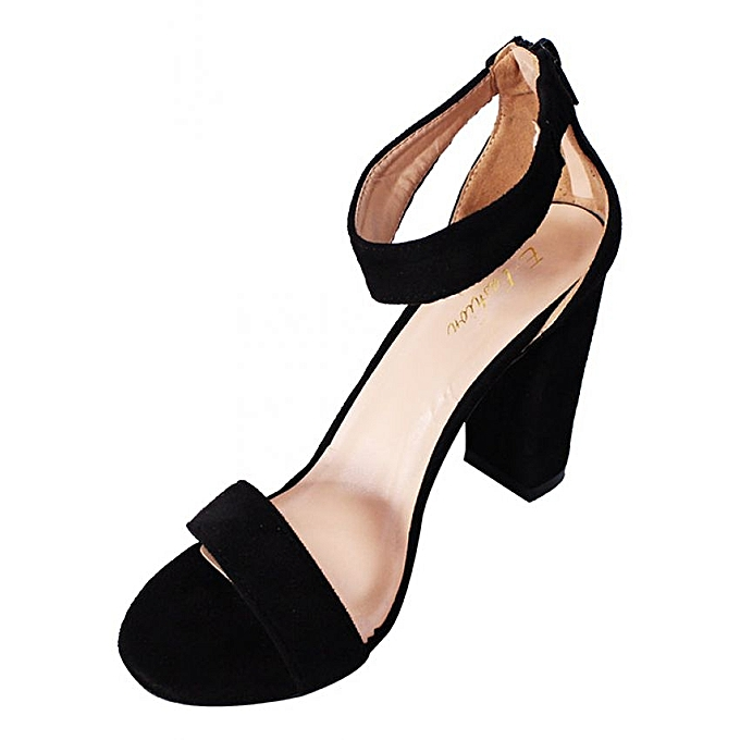 d294b46154f ... Women s Casual And Formal Block Heel Shoes - Black ...