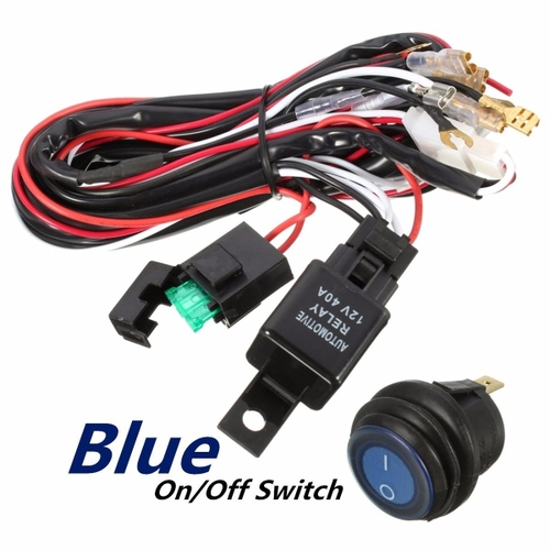 40 amp off road atv jeep led light bar wiring harness relay & on off switch  40 off road atv jeep led light bar wiring #12