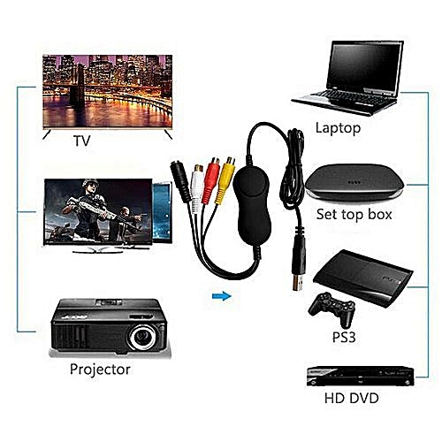 USB2 0 UVC Audio Video Capture Card Adapter Recorder For Microsoft IOS  Android LINUX IO System