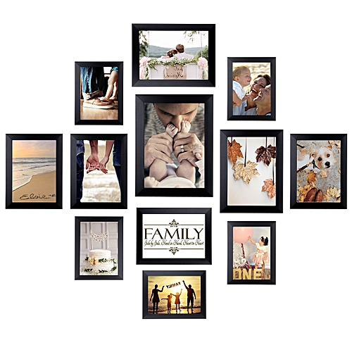 Generic 12 Pack Picture Frames Collage Photo Frames Wall Gallery Kit