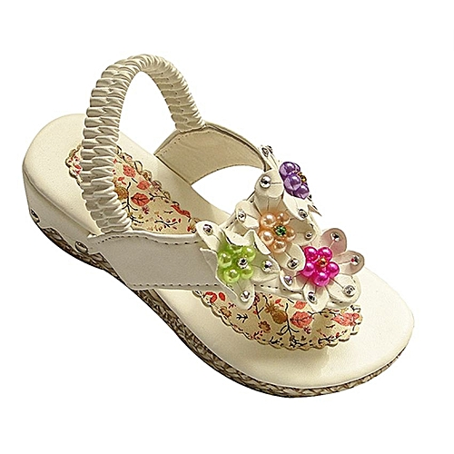 Flower Designed Girls Sandals White Jumia Uganda