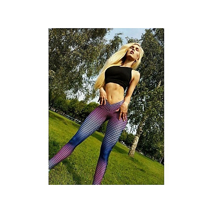 71516cb876df6 The Explosion Women'S Colorful Printed Compression Running Tights Yoga Workout  Pants Sports Gym Slim Fitness Trousers