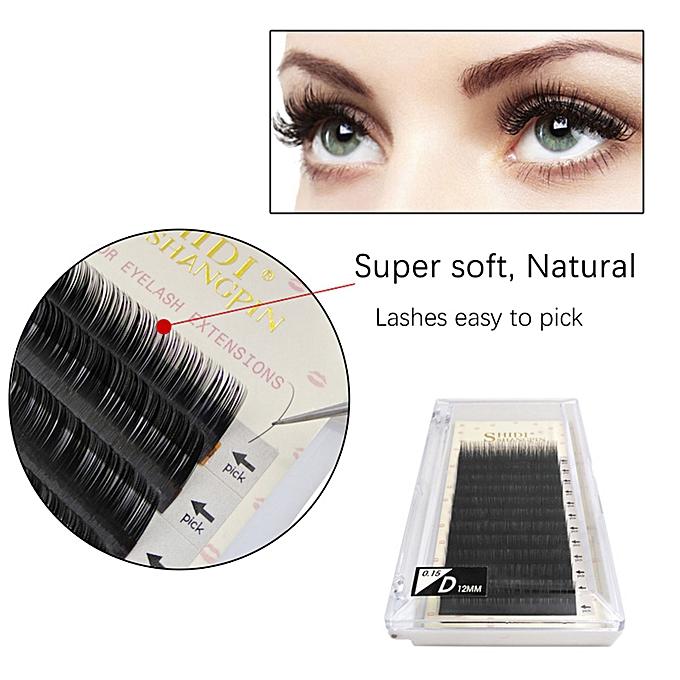 571c6c45e78 ... SHIDISHANGPIN Fake Eyelashes Extension Individual False Lashes D Curl  Black Volume Eyelashes Extension Supplies For Beauty ...