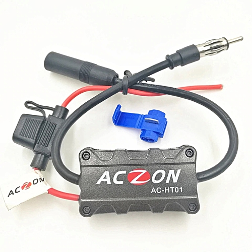 Universal Automobile Car FM AM Radio Stereo Antenna Signal Amplifier  Booster(6 8) Extender