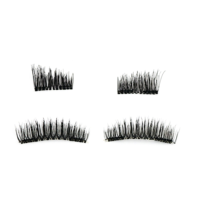971a1d054bc ... Magnetic False Eyelashes Set with Applicator 3D Black Dual Magnetic  Fake Lashes for Eyelashes Extension Reusable ...
