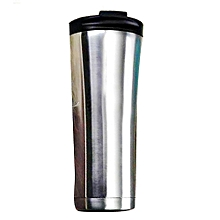 Stainless Steel Vacuum Thermos Cup - Silver,Black