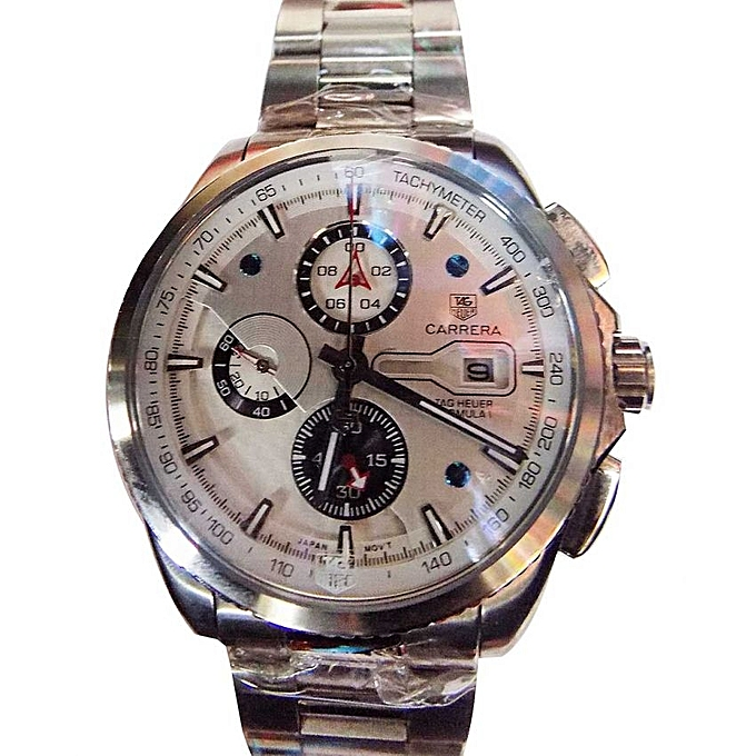 82871517cab Stainless Steel Chronograph Analog Wrist Watch - Silver