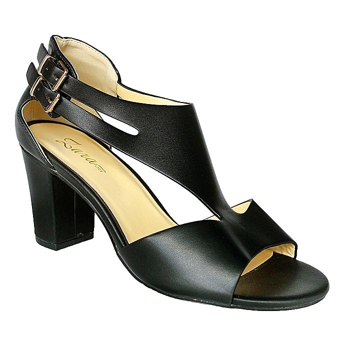 618e2f10d75 Ladies Block High Heels - Black