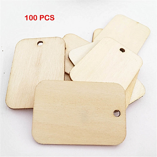 (Xiuxingzi) Wood Tags Unfinished Wood Craft Supplies DIY Woodcrafts Blank  Wooden Gift Tags
