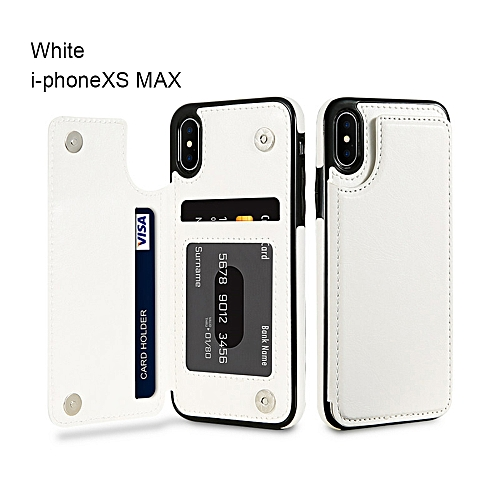 643db949 High-grade Business Men Women Magnetic Leather Wallet Case Card Slot  Shockproof Flip Cover for i-Phone 8/8 Plus/7/7 Plus/6/X/XS/XR/MAX White  i-PhoneXR